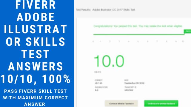 Fiverr Adobe Illustrator Skills Test Answers 10/10, 100%