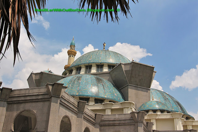 Blue domes, Wilayah Mosque, KL, Malaysia
