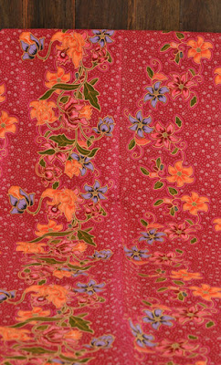 nyonya flower batik fabric