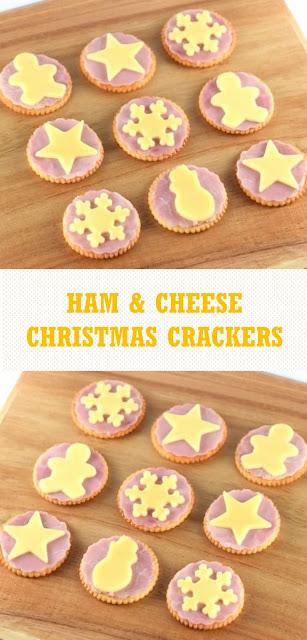 Ham & Cheese Christmas Crackers