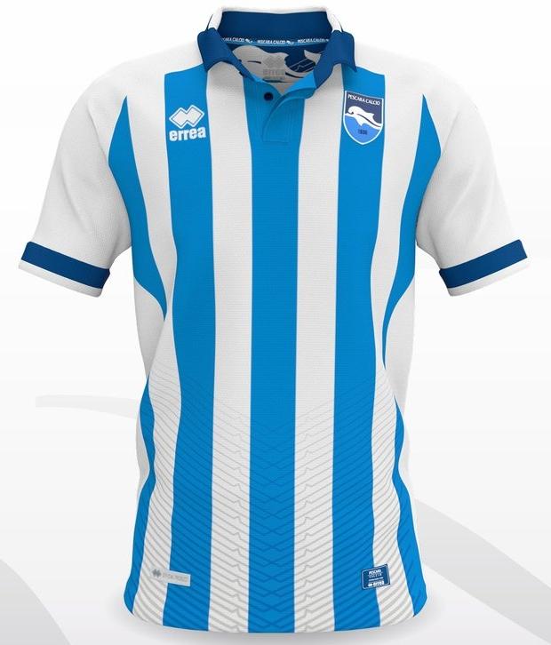 Errea lança as novas camisas do Pescara. A fabricante de material esportivo  ... 3ef6f35d88273
