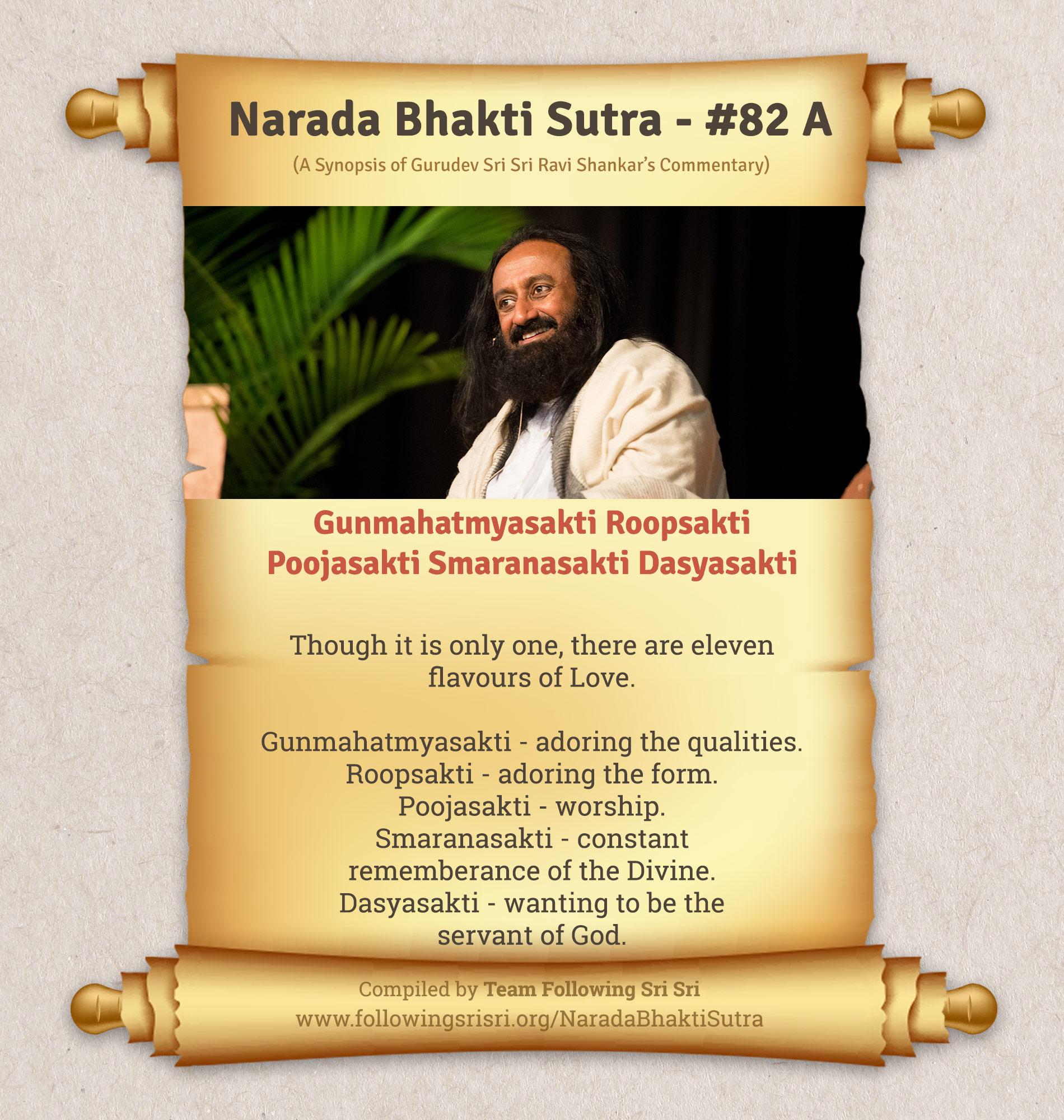 Narada Bhakti Sutras - Sutra 82 A