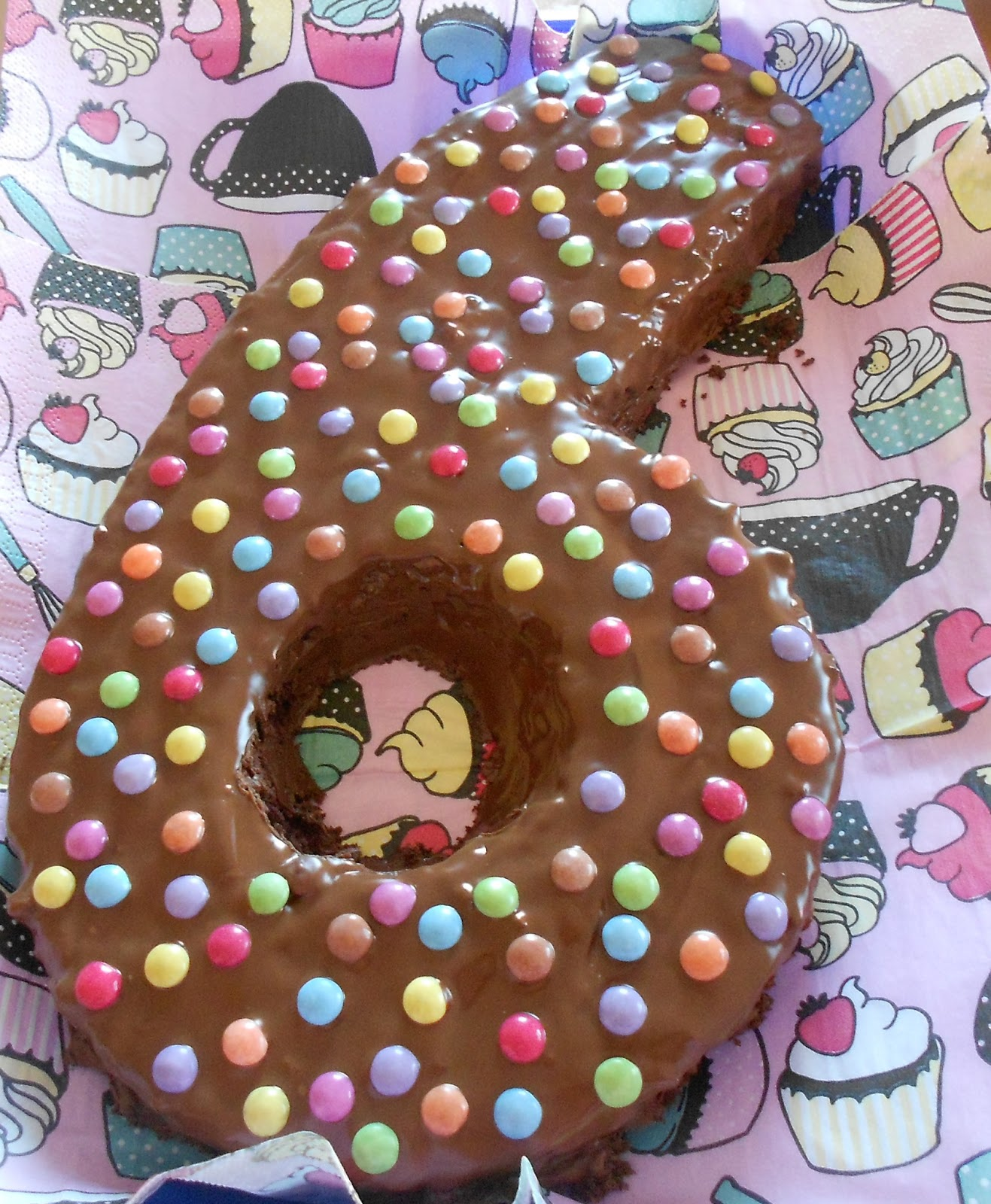 Maja S Little Bakery Schokoladenbiskuit Zahlenkuchen