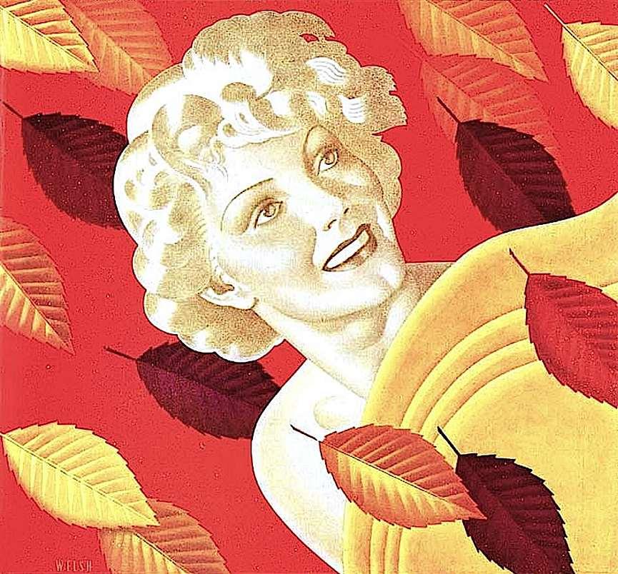 a William Welsh magazine illustration, 1937 autumn
