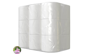 Photo of bulk toilet paper package.