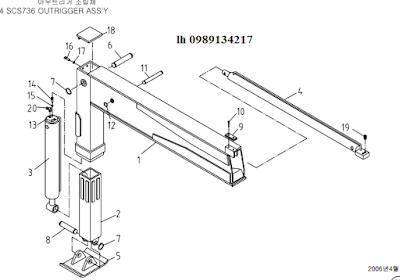 Chân của cẩu soosan 6 tấn SCS615-SCS736-SCS736LII