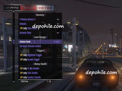 GTA 5 Online 1.52 Syslx 2.4.0 Menu Para Level Hilesi Ekim 2020
