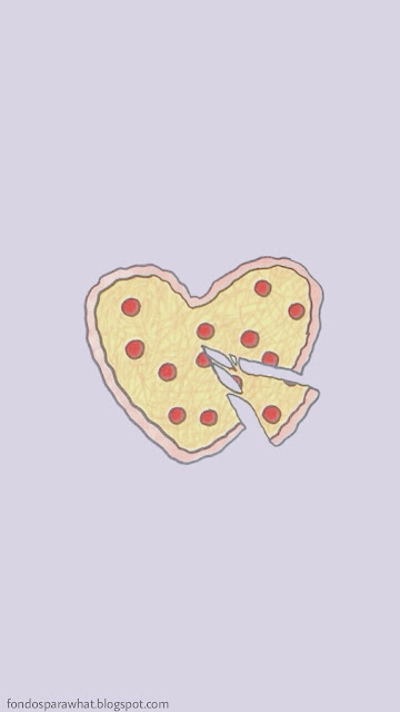 Wallpaper Pizza Love