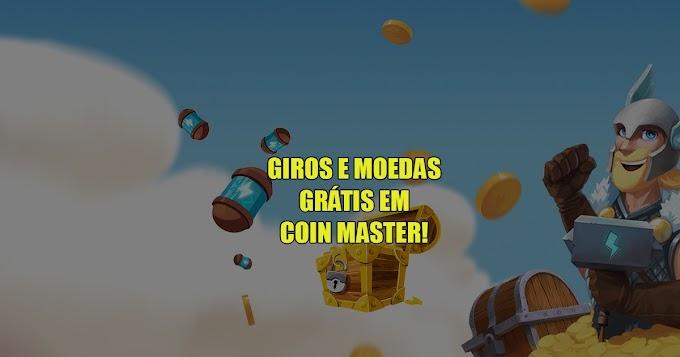 Giros grátis em Coin Master - 23/08/2021