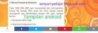 Tampilan android