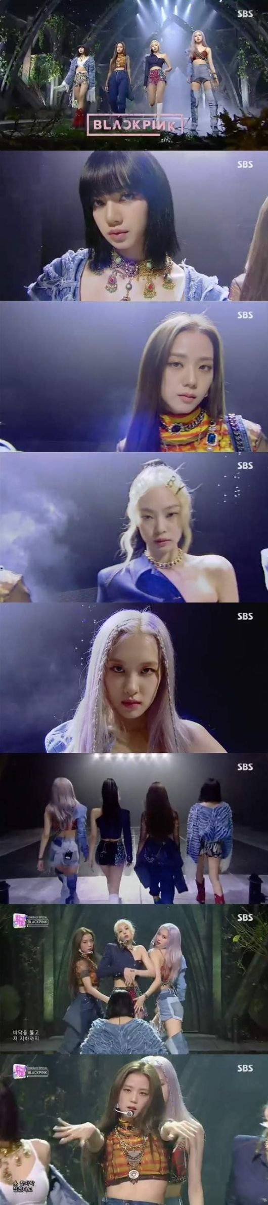 Black Pink 'Inkigayo'da sahne aldı