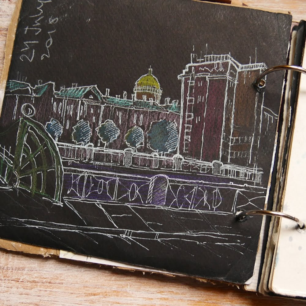 saint-petersburg sketchbook петербург скетч fontanka