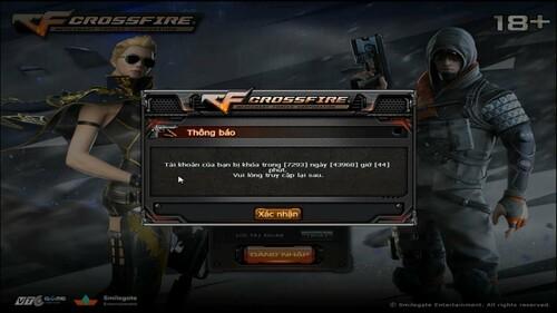 Dùng nhiều hack khiến cho tài khoản Cross Fire bị khóa