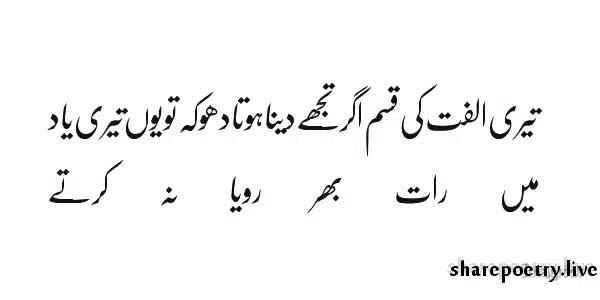 Teri Ulfat Ki Qisam-yaad poetry pictures