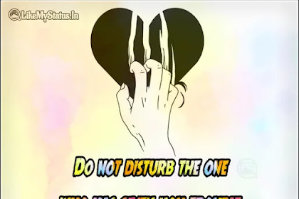 Do not disturb the one | English Quote For Life