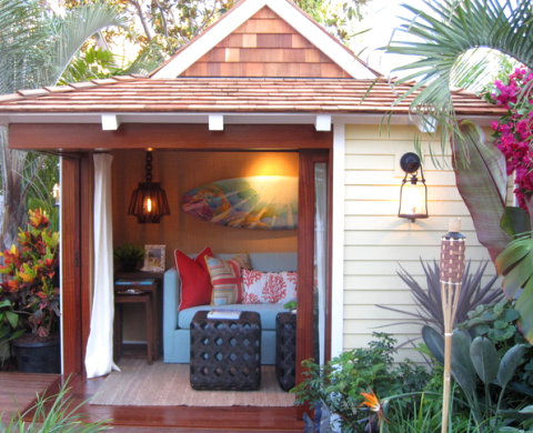 tropical garden shed
