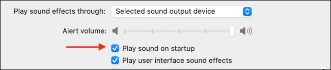 انقر فوق تشغيل الصوت عند بدء التشغيل