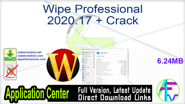 Wipe Professional 2020.17 + Crack