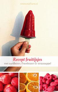 Recept fruitijsjes -met aardbeien, frambozen en sinaasappel
