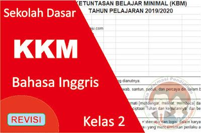 Download KKM Bahasa Inggris Kelas 2 K13 Semester 1