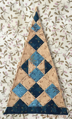 Dear Jane Quilt - Border Triangle Block  TR10 Precious Gems