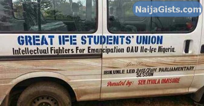 omisore bus oau student union
