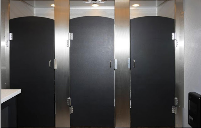 The Industrial Bathroom Trailer Stalls