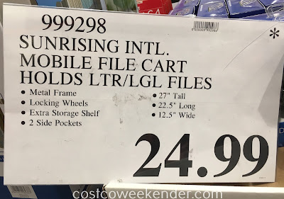 Deal for the Sunrising International Mobile File Cart at Costco