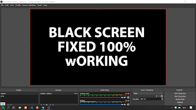 Tutorial How To Fix OBS Black Screen Display Capture