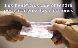 Estos son los beneficios por votar en Colombia