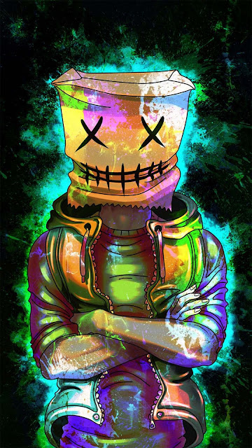 23 Neon Reflection Mask Ultra HD Wallpapers for Android and iPhone