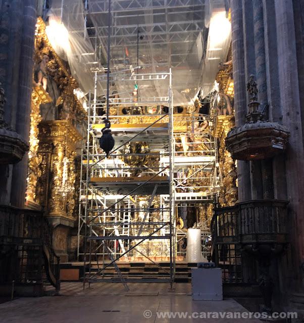 Catedral de Santiago de Compostela en obras | Camino de Santiago en autocaravana