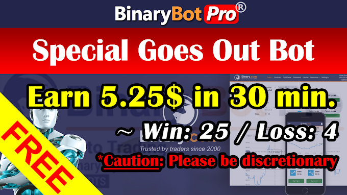 Special Goes Out Bot (23-Nov-2020) | Binary Bot | Free Download