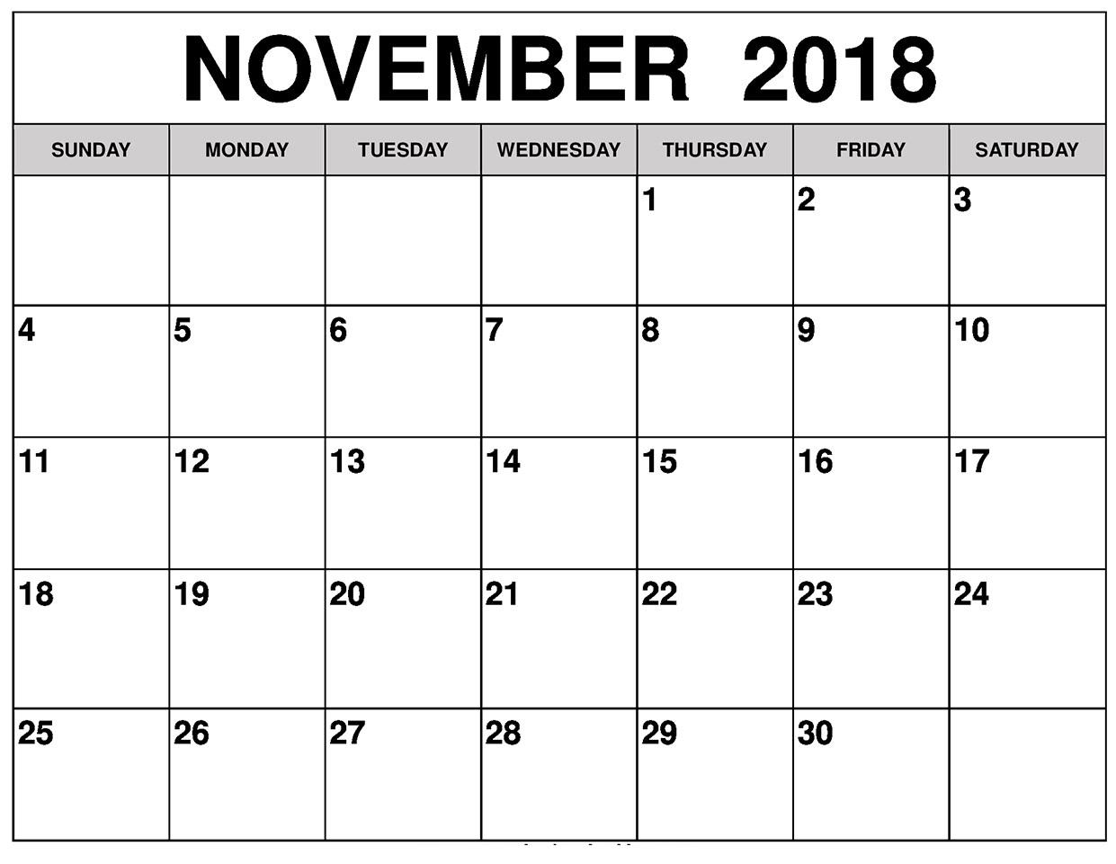 print free blank calendars