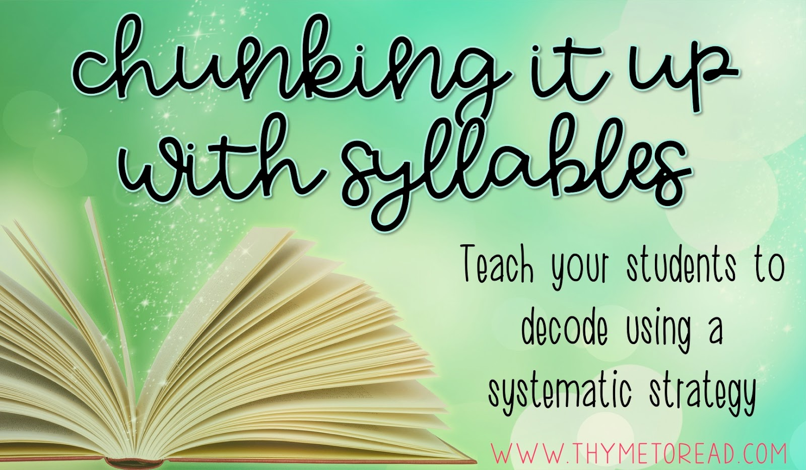 How To Teach Decoding By Teaching Syllable Types