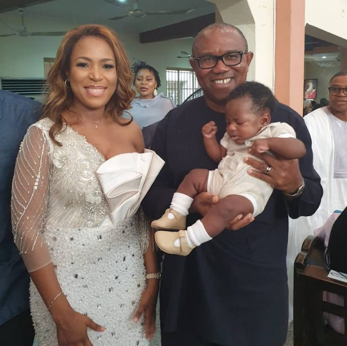 LINDA IKEJI DEDICATES HER SON IN CHURCH YESTERDAY WITHOUT HIS FATHER