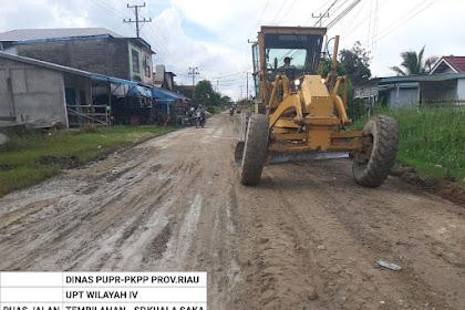 Operator Pulang Kampung, Penimbunan Ruas Jalan Sungai Beringin Dilanjutkan Setelah Lebaran