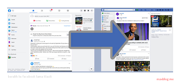 kembali ke versi lama facebook di komputer