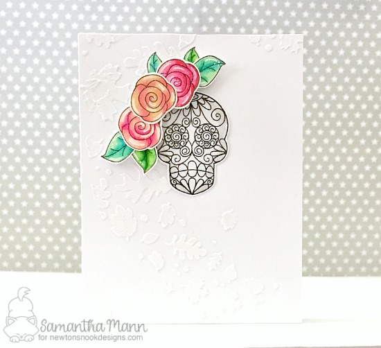 Skeleton card by Samantha Mann | Beautiful Bones Stamp set by Newton's Nook Designs #newtonsnook #handmade