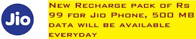 Jio Phone Recharge Plan