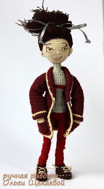 кукла, амигуруми, крючком