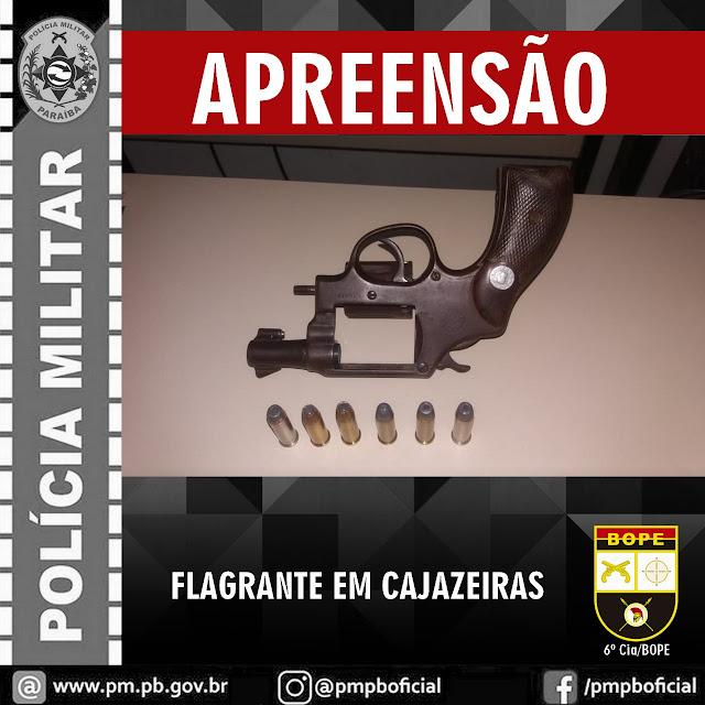 POLÍCIA MILITAR DEFLAGRA OPERAÇÃO CIDADE SEGURA E APREENDE ARMA DE FOGO EM CAJAZEIRAS-PB