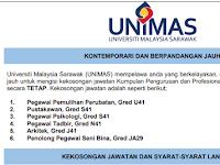 Jawatan Kosong Terkini di Universiti Malaysia Sarawak UNIMAS