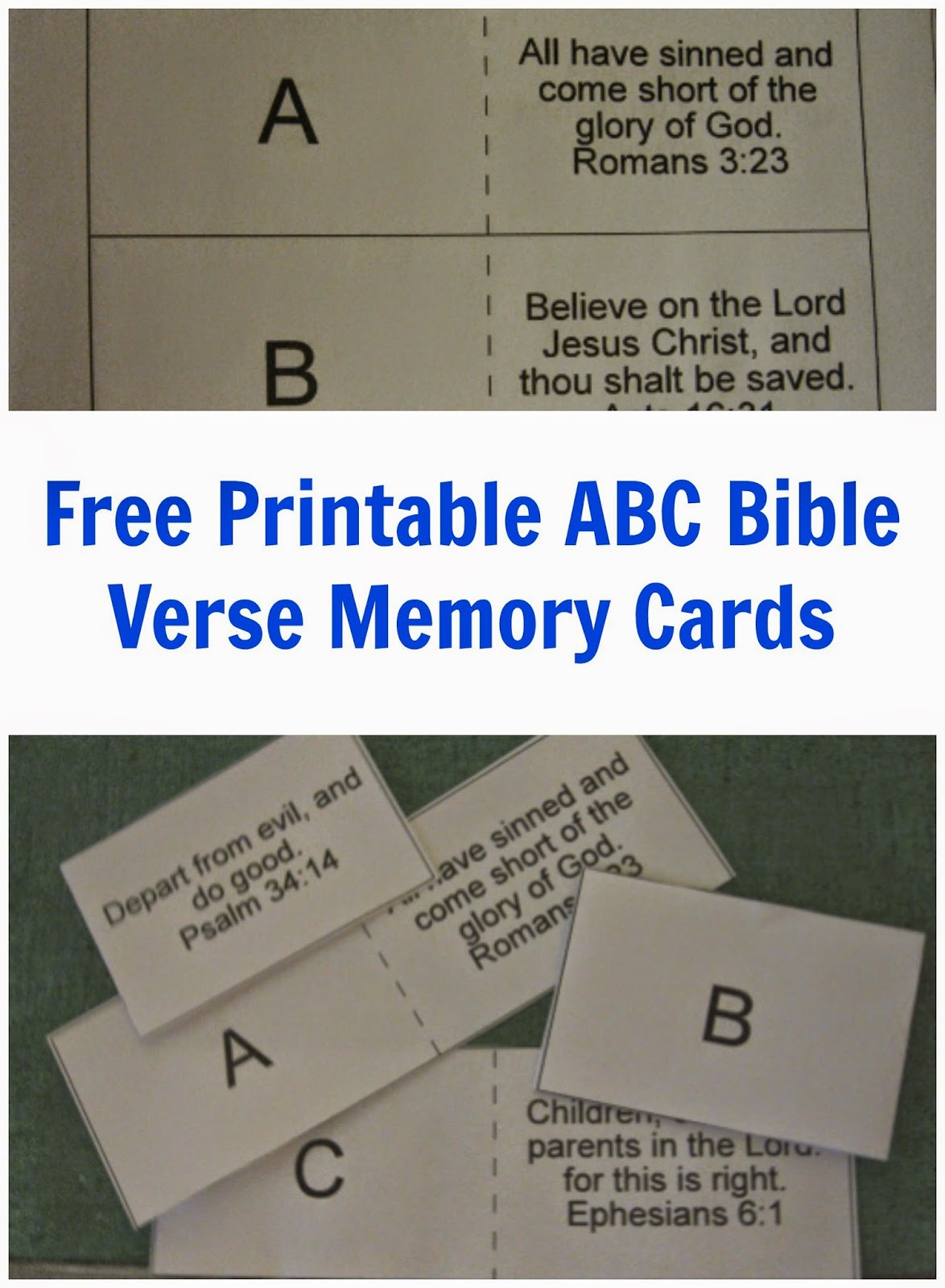 Our Life Home And School Abc Bible Memory Cards Freebie