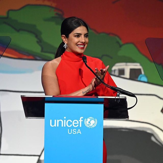 "Priyanka Chopra wrote on social media website Instagram, ""I am in awe of the tireless efforts and unwavering commitment of the people who work for UNICEF."