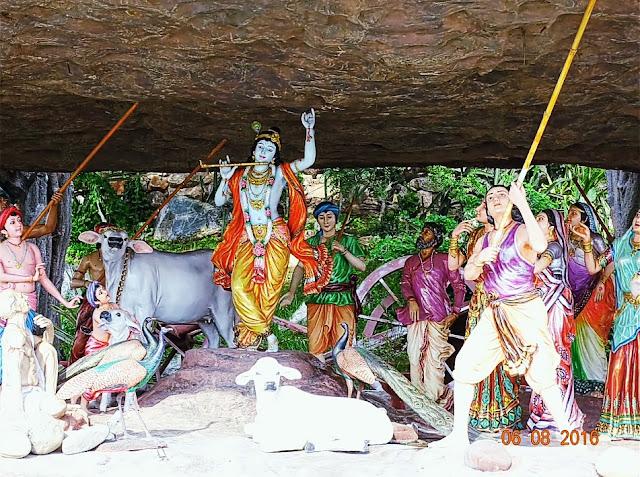 Prem Mandir Lord Krishna with Govardhan Mountain image