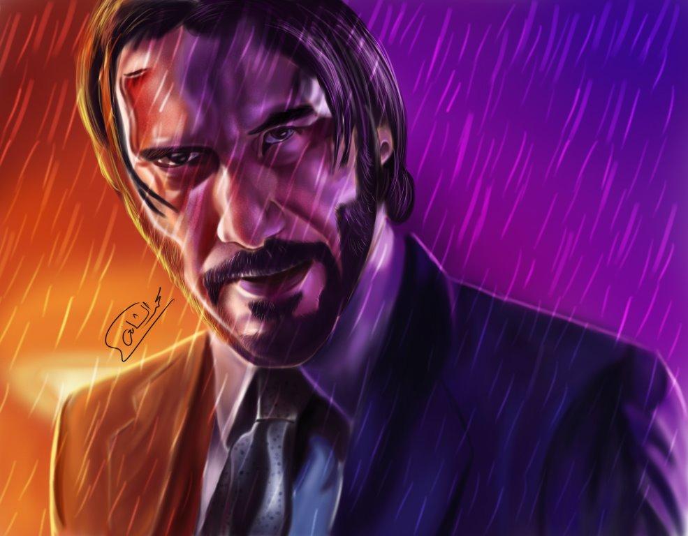 Digital art - Fan Art Jhon Wick - by Mohamed Elshafiy - BlogFanArt