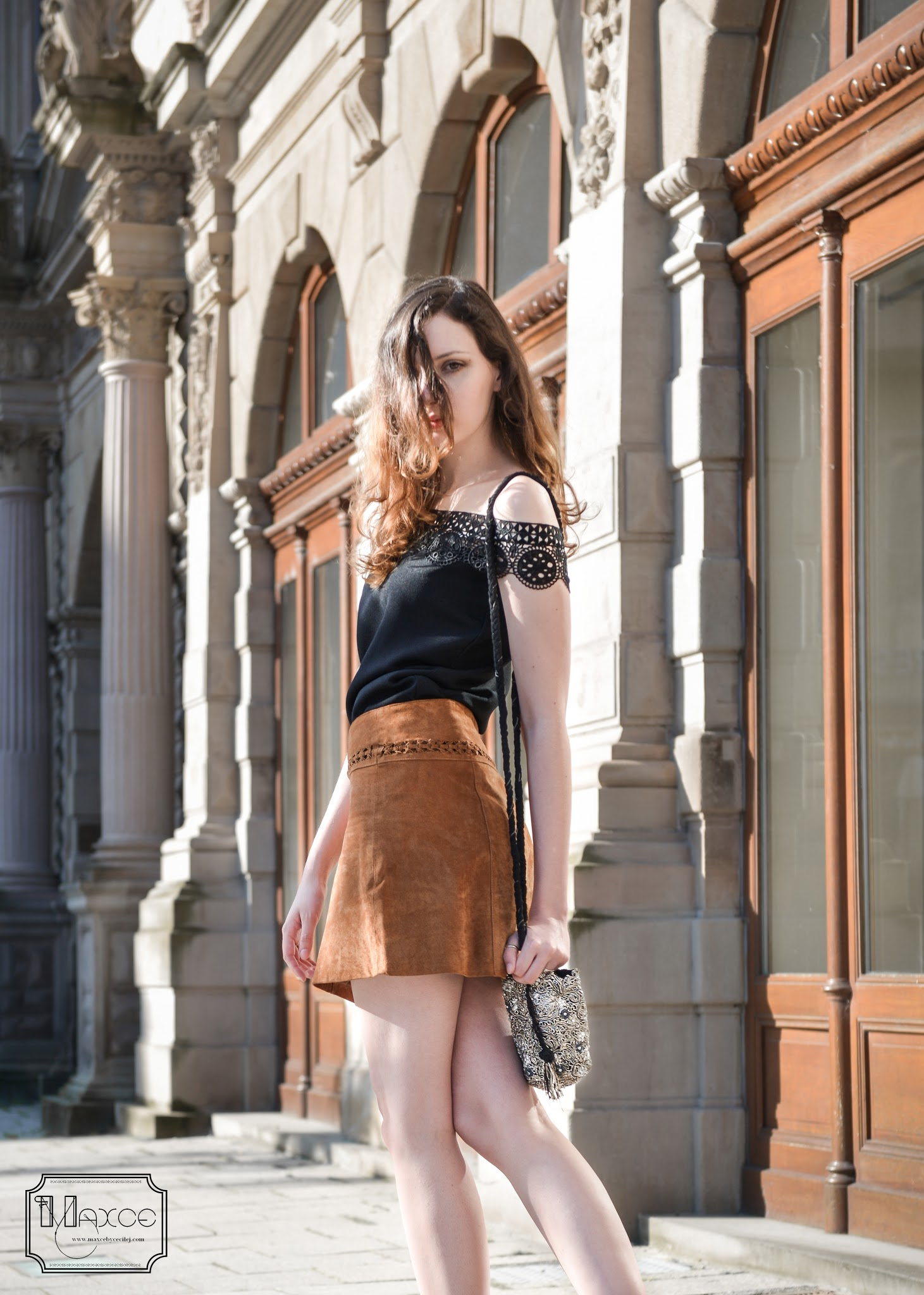 how to wear brown and black together diy top