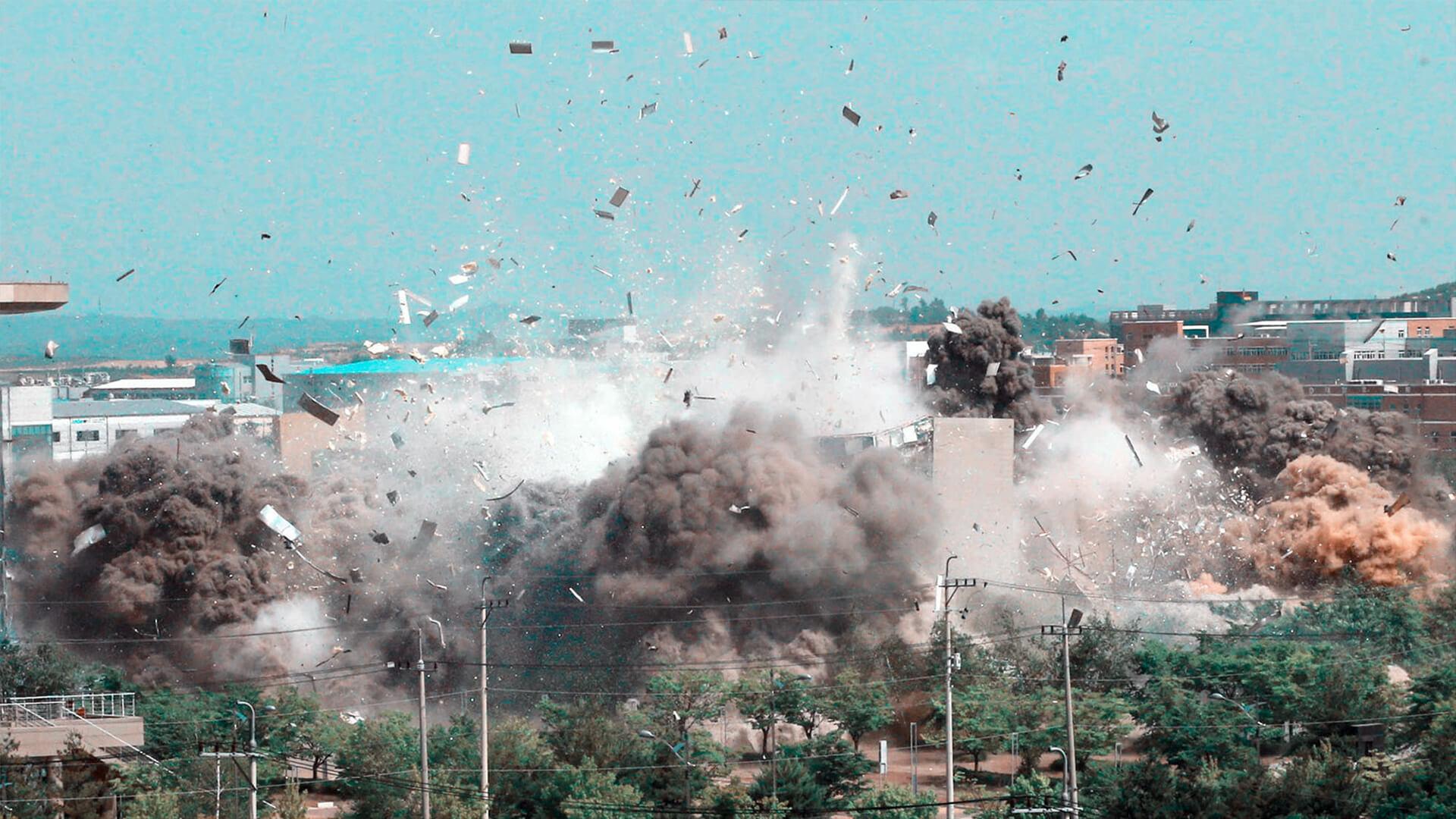 coreia-norte-explode-escritorio