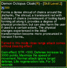 naruto castle defense 6.0 Demon Octopus Cloak detail